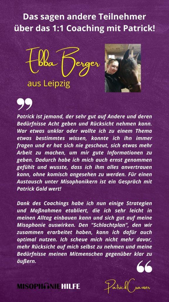 Rezension Ebba Berger 1:1 Coaching mit Patrick